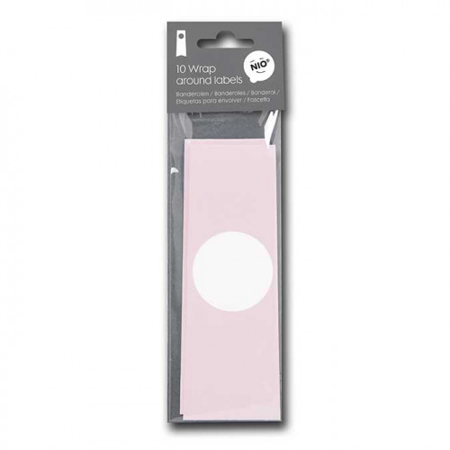 NIO rose - 10 banderoles - 31 x 5,5 cm