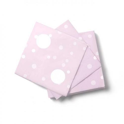 NIO rose - 16 serviettes - 16,5 x 16,5 cm