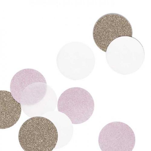 NIO rose - Confetti - rose/or - 5 cm - 30 pcs