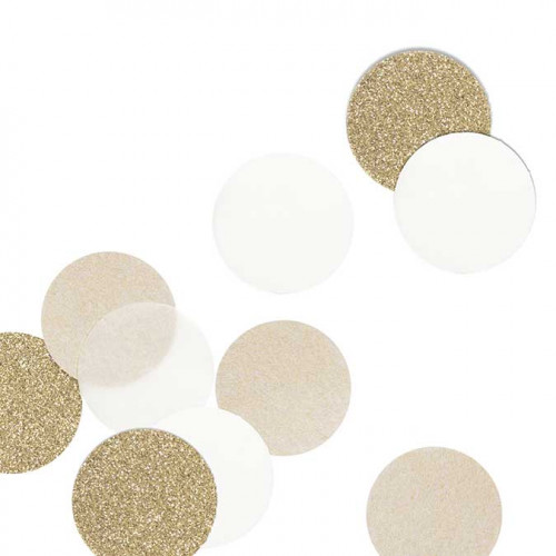 NIO kraft - Confetti - kraft/or - 5 cm - 30 pcs