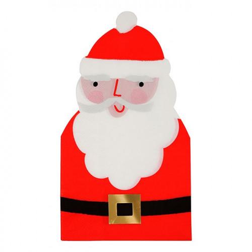 Serviettes en papier Père Noël - 11,5 x 21 cm - 16 pcs