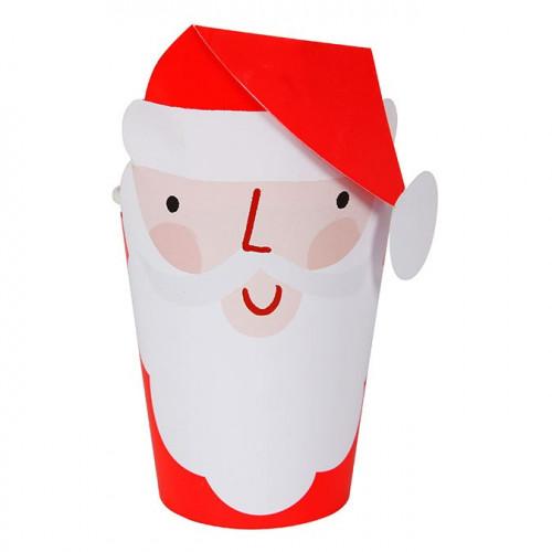 Gobelets en carton Père Noël - 260 ml - 8 pcs