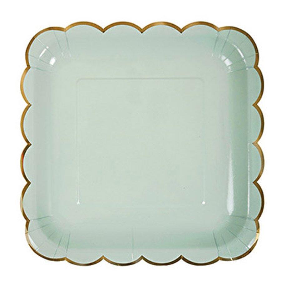Assiettes en carton - Grand format - Pastel - 8 pcs