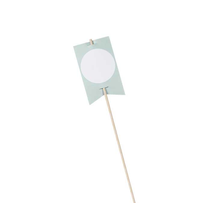 NIO mint - 10 drapeaux avec bâtons - 8,2 x 5 cm