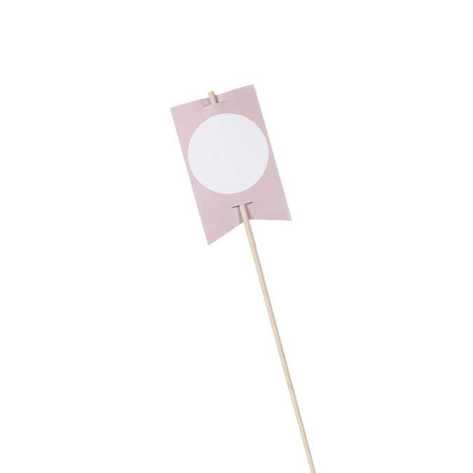 NIO rose - 10 drapeaux avec bâtons - 8,2 x 5 cm