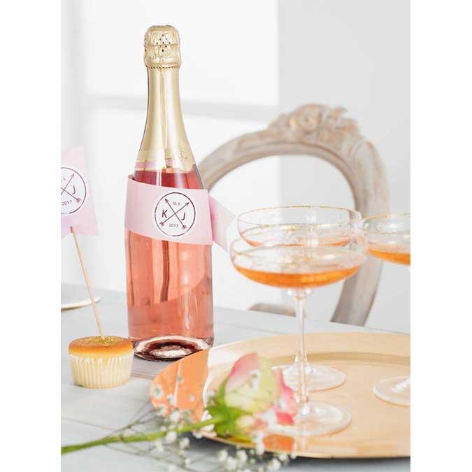 Confetti - rose et or - 5 cm - 30 pcs