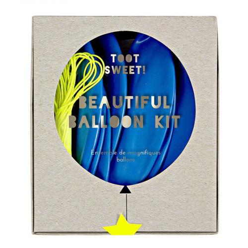 Kit ballon personnalisable - Bleu - 8 pcs