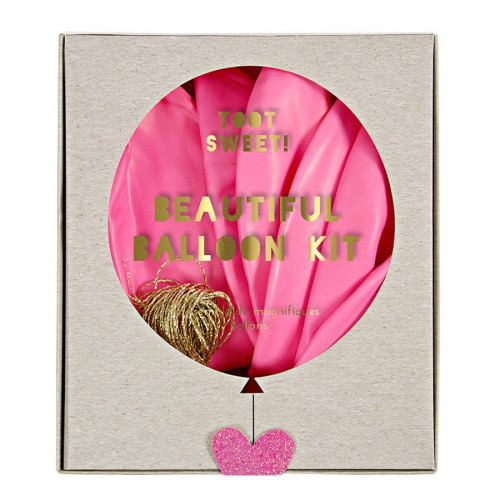 Kit ballon personnalisable - Rose - 8 pcs