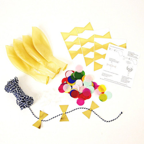 Kit ballon confettis - Multicolore - 8 pcs