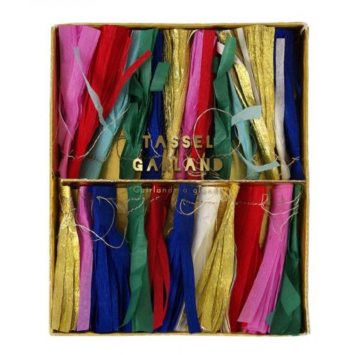 Guirlande - Pompon en papier - Multicolore - 2,4 m