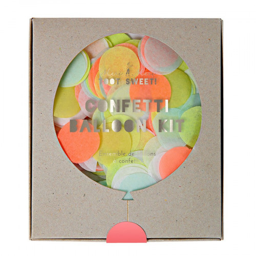 Kit ballon confettis - Fluos - 8 pcs