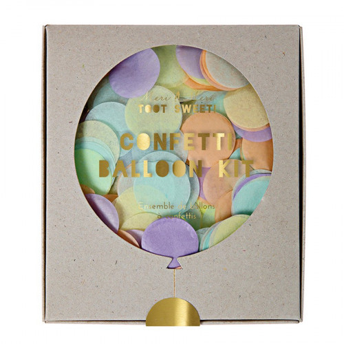 Kit ballon confettis - Pastels - 8 pcs