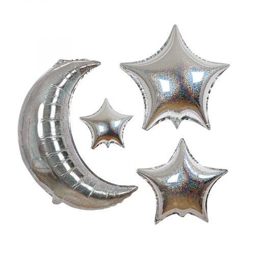 Ballons - Lune et étoiles - 6 pcs