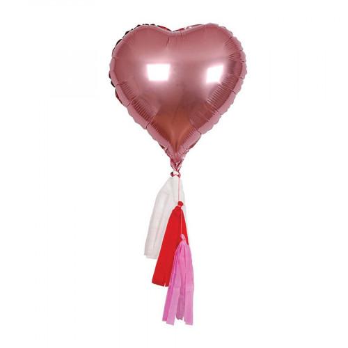 Ballon - Cœur et pompons