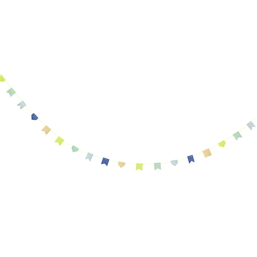 Guirlande - Bobine - Bleu et vert - 4,5 m