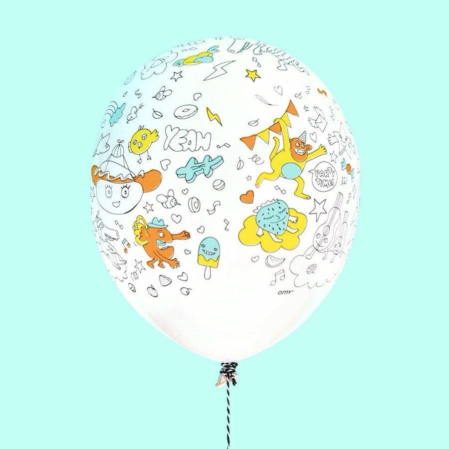 Ballons à colorier - 5 pcs