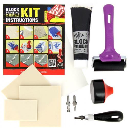 Kit de Linogravure - Essentials (encre noire)