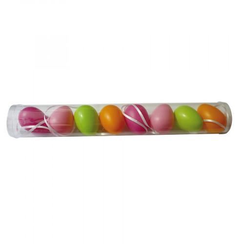 Œufs en plastique - multicolore - 6 x 4 cm
