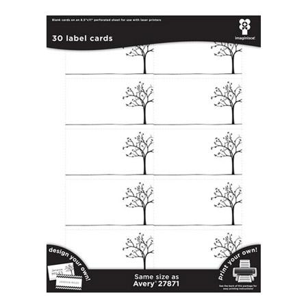 Black Ice - Place Cards - Tree Line