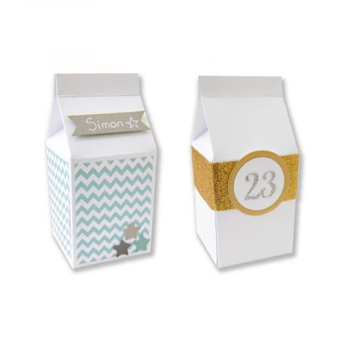 Boîtes à lait - blanc - 5,5 x 7 cm - 6 pces