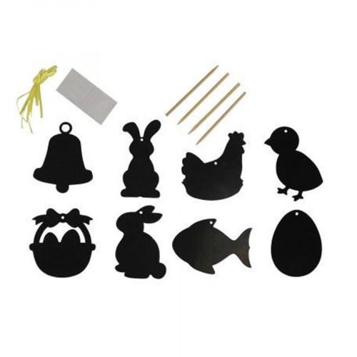 Motifs de Pâques à gratter - 8 à 10 cm - 8 pcs