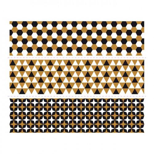 Bandeaux Magic Shrink - Mini Motifs graphiques #2 - 4 cm - 12 pcs