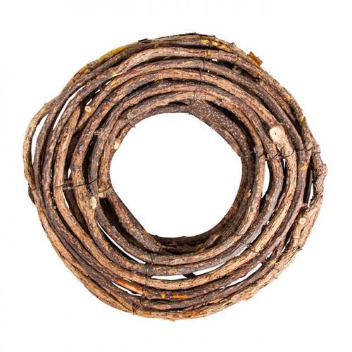Couronne naturelle en bois - 30 cm