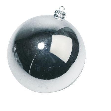 Boules de Noël - Argent mat / brillant grand modèle