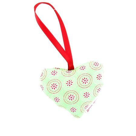 Cœur en tissu Tante Ema - Vert