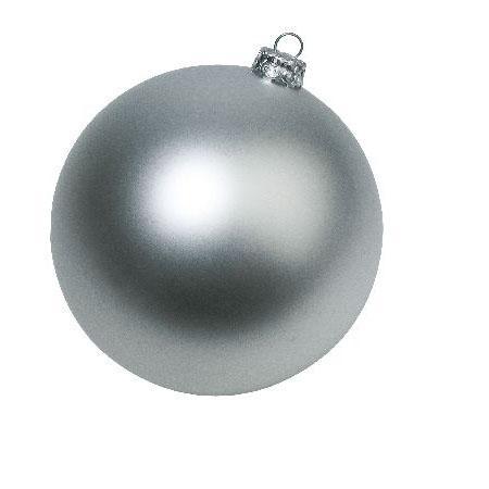 Boules de Noël - Argent mat / brillant moyen modèle