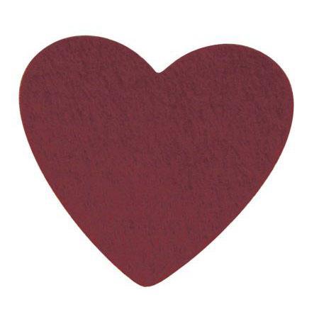 Coeur en feutrine - Bordeaux