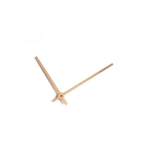 Aiguilles pour horloge en aluminium - Or anodisé - 53 / 39 mm