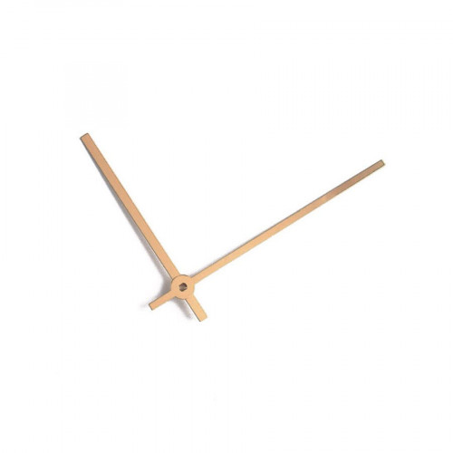 Aiguilles pour horloge en aluminium - Or anodisé - 80 / 60 mm