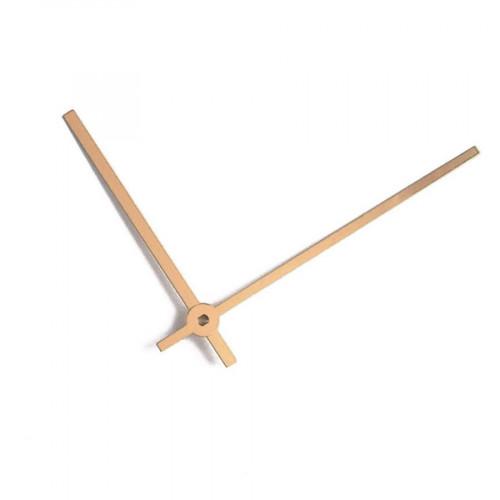 Aiguilles pour horloge en aluminium - Or anodisé - 100 / 75 mm