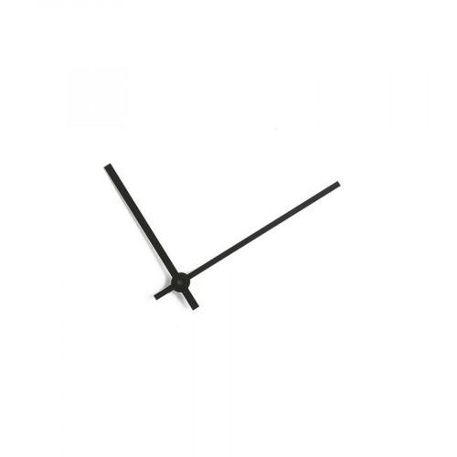 Aiguilles pour horloge en aluminium - Noir mat - 53 / 39 mm