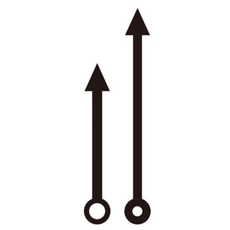 Aiguilles pour horloge - Flèches 1
