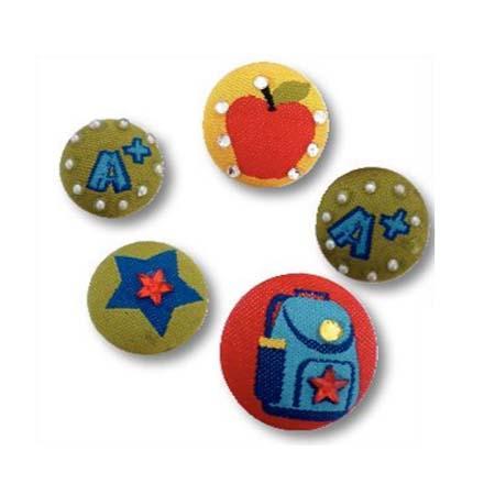 Magnets Tissu - Ecole