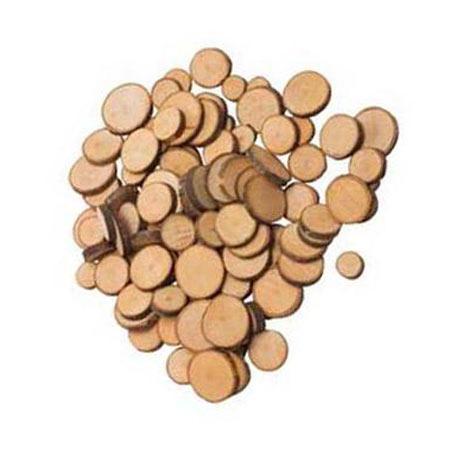 Bois - Rondelles mini tranche x 70 pces env.