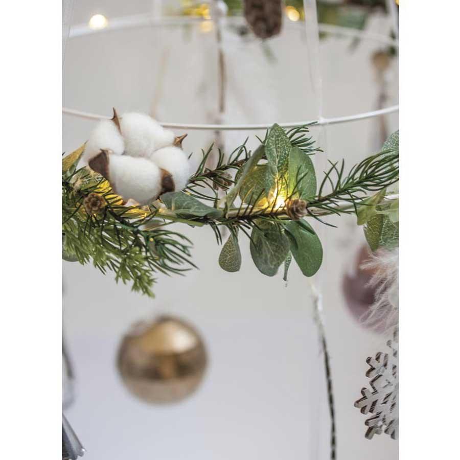 Branche Fleur De Coton branche avec fleurs en coton artificielle - 1 pcs