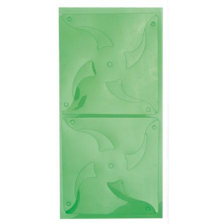 Feuille plastique prédécoupée - Vert transparent