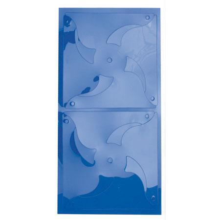 Feuille plastique prédécoupée - Bleu transparent