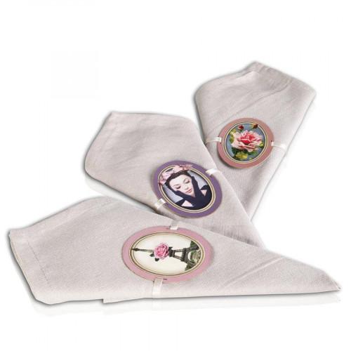 L'art de la table - Ronds de serviette - 12 pces