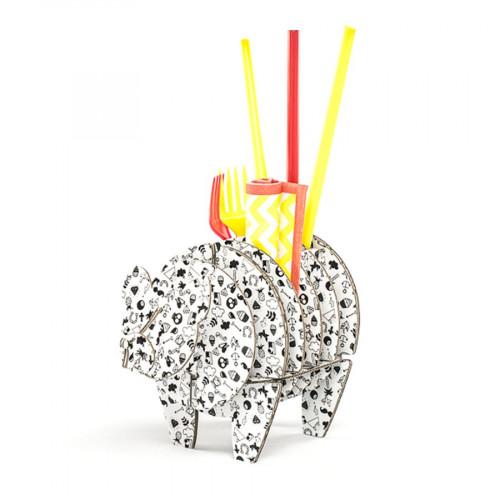 Cochon à monter en carton - Tatoo - taille S