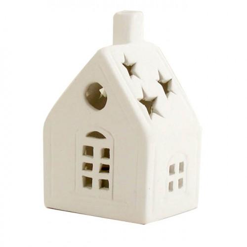 Maison en céramique - 17 x 9 x 8,5 cm
