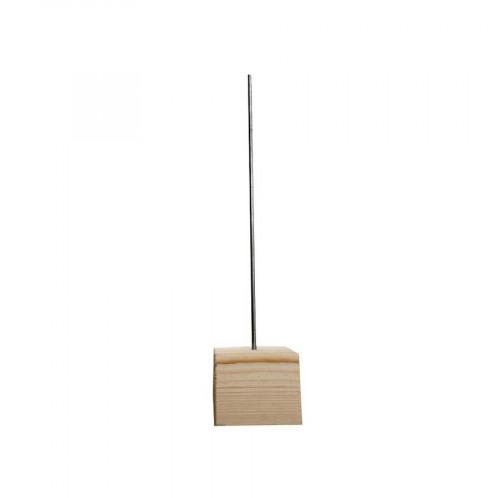 Socle en bois avec tige métal - 7 x 7 x 30 cm