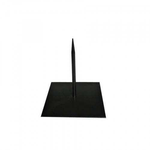 Socle noir en métal - 12 x 12 x 13 cm