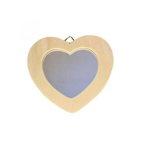 Miroir Cœur - à  accrocher - 12 x 8 cm