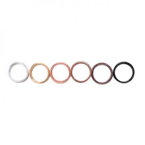 Lot de 6 fils métalliques Happy Jig - couleurs neutres