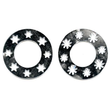 Miroirs déco - 2 couronnes en étoile