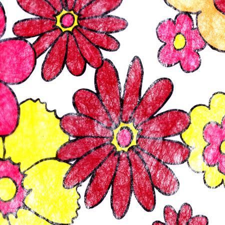 Fibre non tissé - Mer de fleurs - 30 cm de large